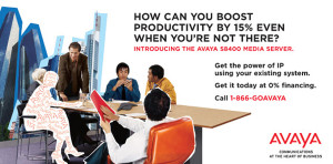 Buckslip artwork. Part of an integrated channel marketing campaign for Avaya.
