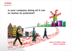 Spark Creative writes, designs, and produces sales support materials like this one for Avaya.