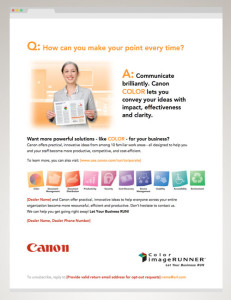 """HTML Email effort created for the Canon USA """"RUN"""" Campaign"""
