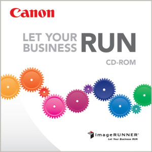 "When developing branding for  Canon USA's ""RUN"" campaign, we selected the ""Avenir"" typeface to help reinforce the modern, streamlined nature of imageRUNNER solutions."
