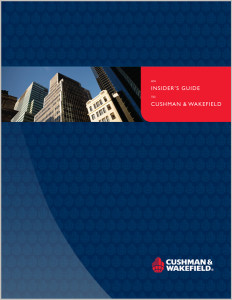 Corporate business services brochure for Cushman & Wakefield