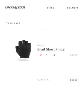 The prospective cycling gloves, in question.